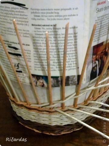 Мастер-класс, Поделка, изделие Плетение: Послойное плетение  Бумага газетная. Фото 17