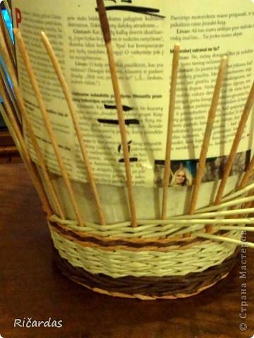 Мастер-класс, Поделка, изделие Плетение: Послойное плетение  Бумага газетная. Фото 18