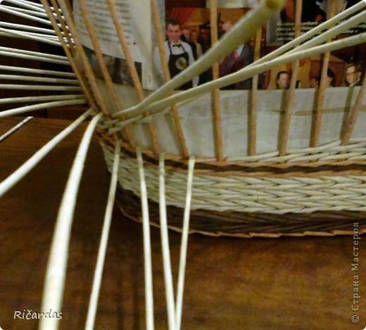 Мастер-класс, Поделка, изделие Плетение: Послойное плетение  Бумага газетная. Фото 19
