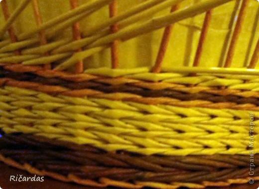 Мастер-класс, Поделка, изделие Плетение: Послойное плетение  Бумага газетная. Фото 21