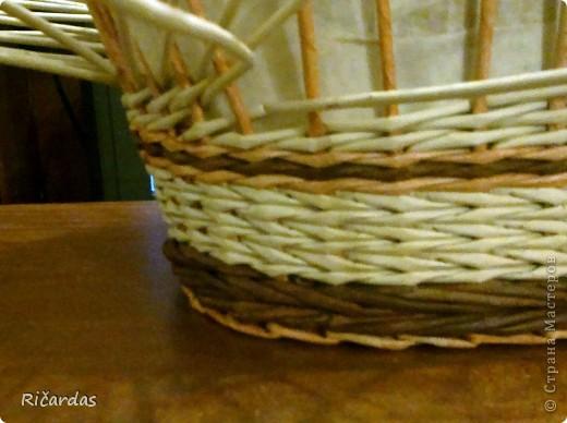 Мастер-класс, Поделка, изделие Плетение: Послойное плетение  Бумага газетная. Фото 22
