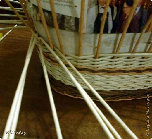 Мастер-класс, Поделка, изделие Плетение: Послойное плетение  Бумага газетная. Фото 23