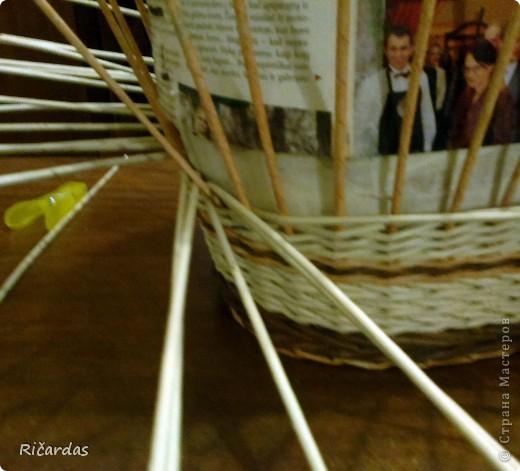 Мастер-класс, Поделка, изделие Плетение: Послойное плетение  Бумага газетная. Фото 24