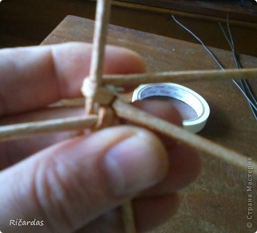 Мастер-класс, Поделка, изделие Плетение: Послойное плетение  Бумага газетная. Фото 33