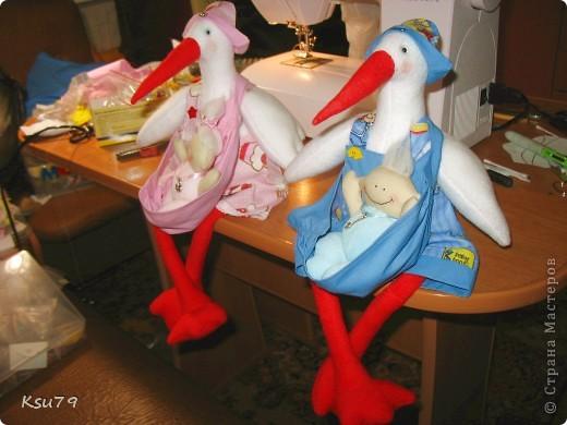 Игрушка Шитьё: Аиста вызывали? Ткань День матери, День рождения, День семьи, Свадьба. Фото 10