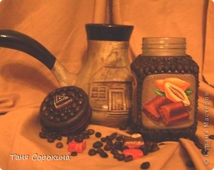 Декор предметов Декупаж: Кофе с шоколадом Продукты пищевые. Фото 2