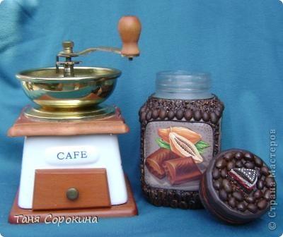 Декор предметов Декупаж: Кофе с шоколадом Продукты пищевые. Фото 5