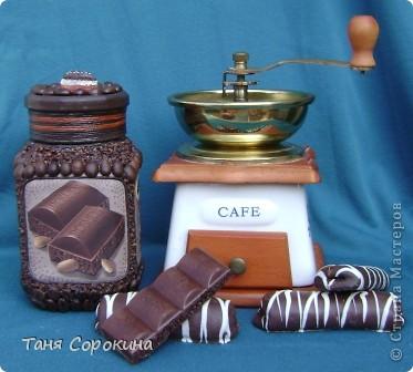 Декор предметов Декупаж: Кофе с шоколадом Продукты пищевые. Фото 1