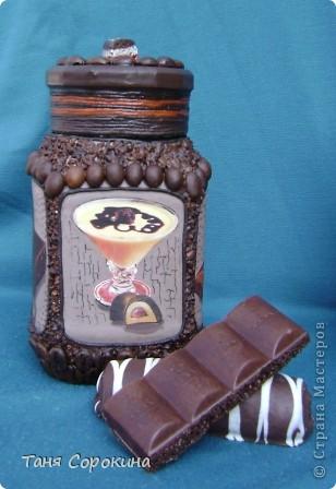 Декор предметов Декупаж: Кофе с шоколадом Продукты пищевые. Фото 3
