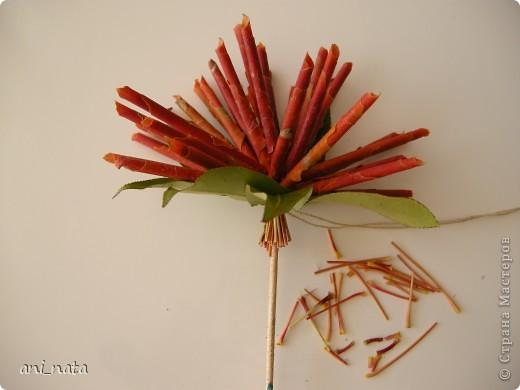 Мастер-класс Моделирование: Хризантемы из осенних листьев. Бумага гофрированная, Листья, Нитки Праздник осени. Фото 17