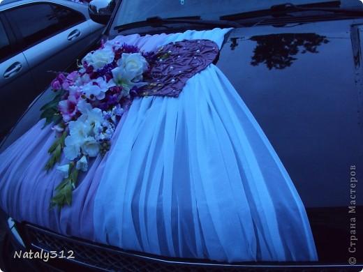 Мастер-класс: Оформление свадебной машины. МК Ткань Свадьба. Фото 1