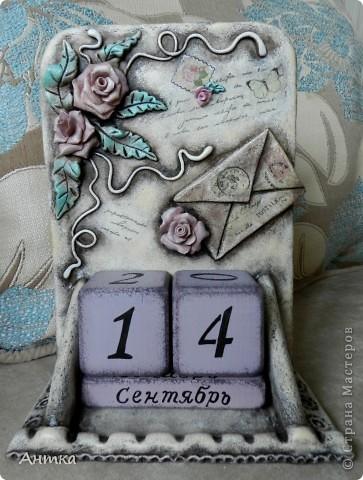 Поделка, изделие Декупаж, Лепка: Вечный календарь