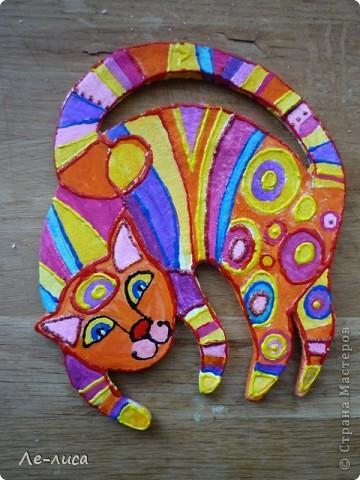 Мастер-класс Лепка: Радужные коты и кошки Тесто соленое. Фото 11