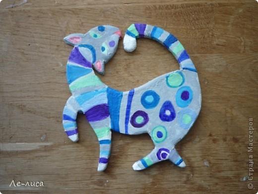 Мастер-класс Лепка: Радужные коты и кошки Тесто соленое. Фото 10