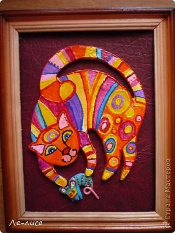 Мастер-класс Лепка: Радужные коты и кошки Тесто соленое. Фото 16