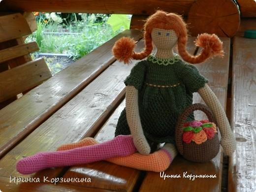 Куклы Вязание крючком, Вязание спицами: Цветочная девочка по мотивам Тильд... Нитки. Фото 1