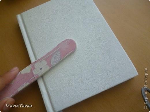 Декор предметов, Мастер-класс Декупаж: Переделываем блокнот(мк) Клей, Краска, Салфетки. Фото 18