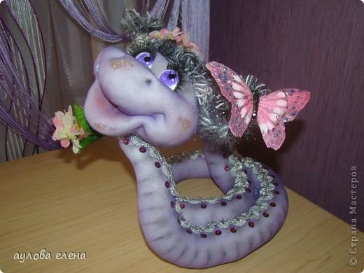 Мастер-класс Шитьё: Змейка Капрон, Поролон, Проволока Новый год. Фото 1