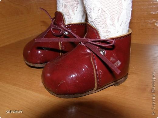 Кожаные ботинки для куклы