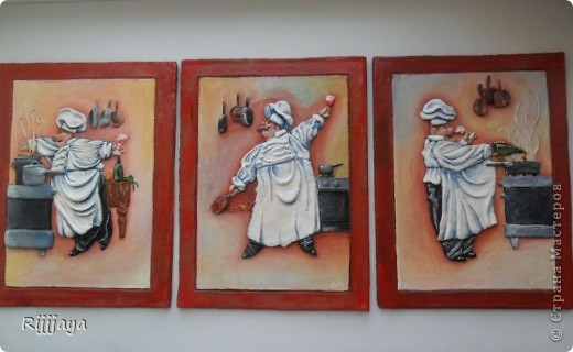 Картины из соленого теста на кухню 71