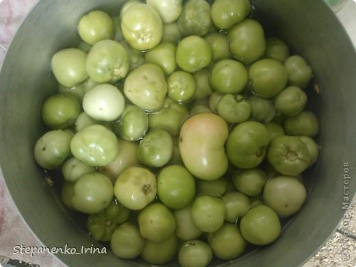 Мастер-класс Рецепт кулинарный: Салат из зелёных помидоров с майонезом (на зиму) Продукты пищевые. Фото 3