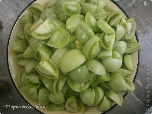 Мастер-класс Рецепт кулинарный: Салат из зелёных помидоров с майонезом (на зиму) Продукты пищевые. Фото 8