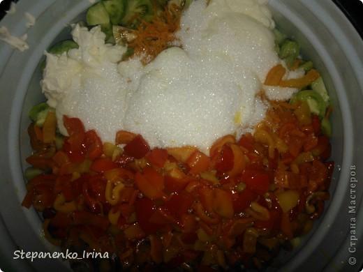 Мастер-класс Рецепт кулинарный: Салат из зелёных помидоров с майонезом (на зиму) Продукты пищевые. Фото 11
