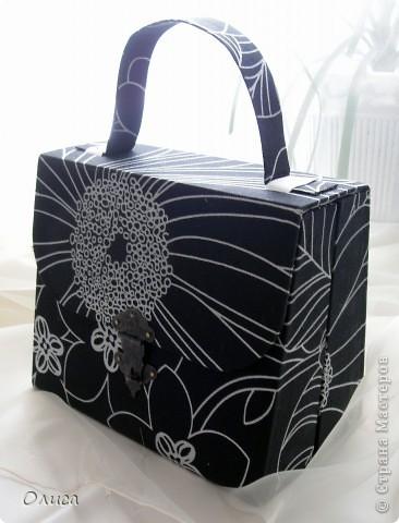Поделка, изделие Моделирование: Шкатулка сумочка. Картонаж. Картон, Ткань. Фото 4
