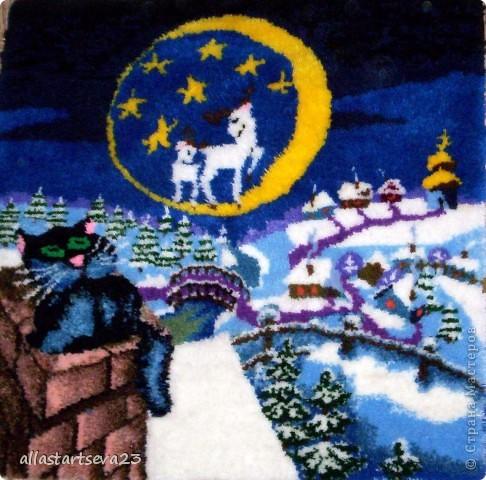 """Картина, панно, рисунок Вышивка ковровая, Ткачество ручное: Я, ребята и наша """"Мастерская народных ремесел"""" Пряжа. Фото 3"""