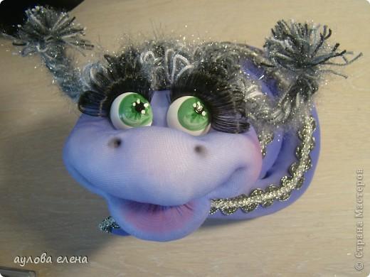 Мастер-класс Шитьё: Змейка, делаем мордочку  Капрон, Проволока Новый год. Фото 41