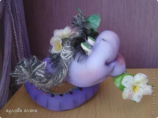 Мастер-класс Шитьё: Змейка, делаем мордочку  Капрон, Проволока Новый год. Фото 44