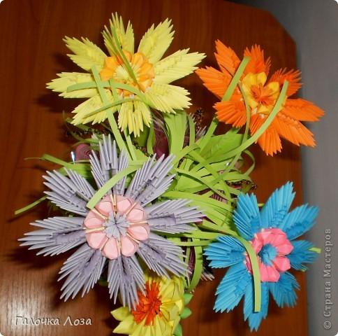 модульное оригами ваза + с