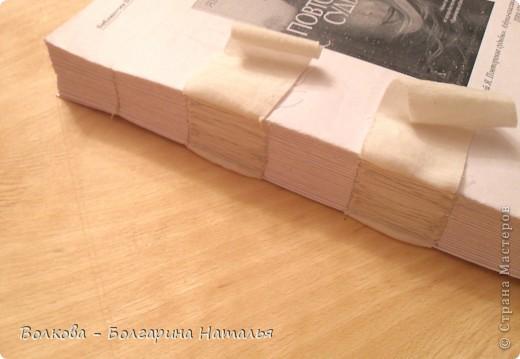 Мастер-класс, Поделка, изделие Декупаж, Шитьё: Книга своими руками Бумага, Клей, Нитки, Ткань. Фото 5