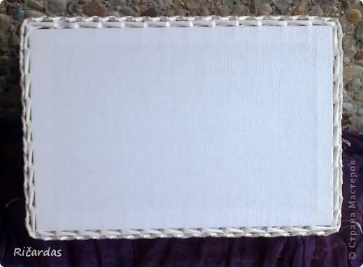 Поделка, изделие Плетение: Белый набор Бумага газетная, Бусинки, Картон. Фото 4