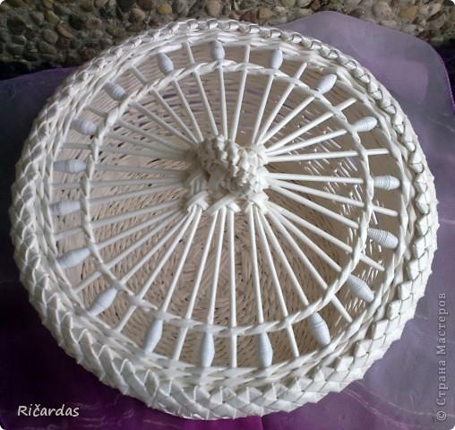 Поделка, изделие Плетение: Белый набор Бумага газетная, Бусинки, Картон. Фото 7