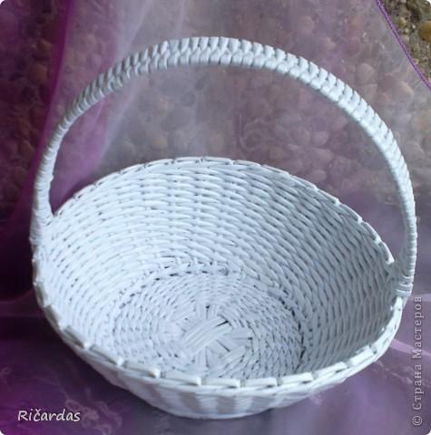 Поделка, изделие Плетение: Белый набор Бумага газетная, Бусинки, Картон. Фото 14