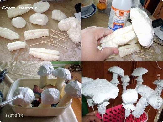 Как сделать гриб поделку 49