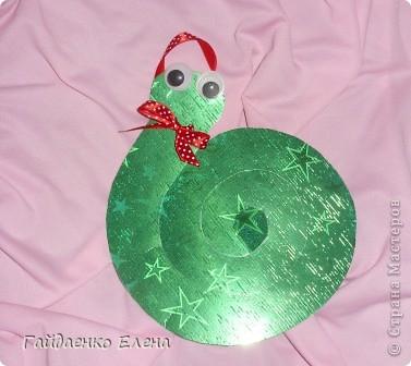 Мастер-класс, Свит-дизайн: Два варианта одной змейки Картон, Ленты, Продукты пищевые Новый год. Фото 7