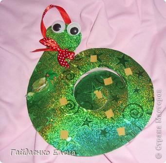 Мастер-класс, Свит-дизайн: Два варианта одной змейки Картон, Ленты, Продукты пищевые Новый год. Фото 9