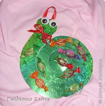 Мастер-класс, Свит-дизайн: Два варианта одной змейки Картон, Ленты, Продукты пищевые Новый год. Фото 10