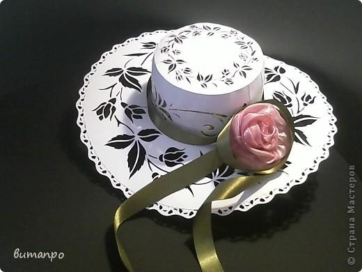"""Поделка, изделие Вырезание, Моделирование: Новая модель шляпки"""" Аля Франце"""" Бумага, Клей День рождения. Фото 1"""