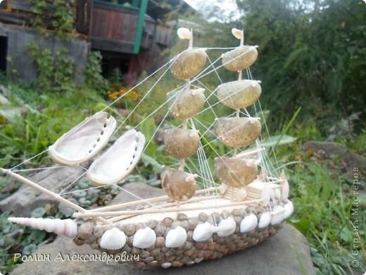 Кораблики из ракушек своими руками 668