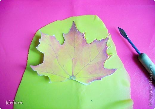 Мастер-класс Лепка: МК кленовые листья из холодного фарфора Фарфор холодный. Фото 4