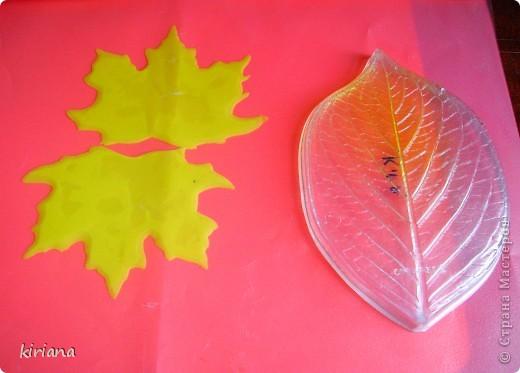 Мастер-класс Лепка: МК кленовые листья из холодного фарфора Фарфор холодный. Фото 7