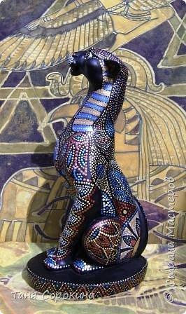 Декор предметов Рисование и живопись: Египетская богиня-кошка Краска. Фото 5