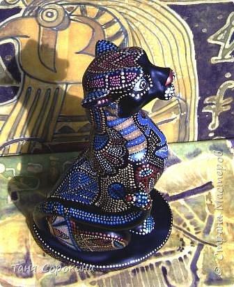 Декор предметов Рисование и живопись: Египетская богиня-кошка Краска. Фото 7