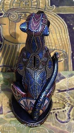 Декор предметов Рисование и живопись: Египетская богиня-кошка Краска. Фото 8