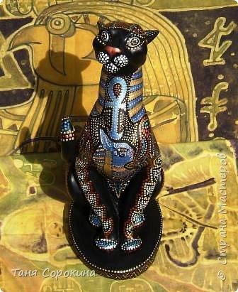 Декор предметов Рисование и живопись: Египетская богиня-кошка Краска. Фото 1