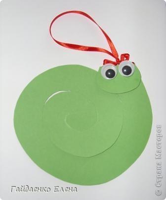 Мастер-класс, Свит-дизайн: Два варианта одной змейки Картон, Ленты, Продукты пищевые Новый год. Фото 15