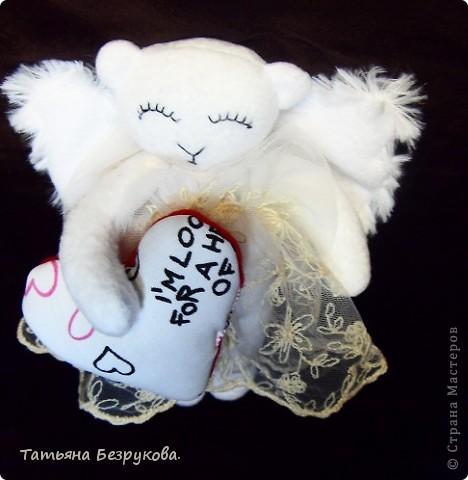 Игрушка Шитьё: Дежурный ангел. Ткань Отдых. Фото 3